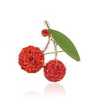 Брошь женская Cherry