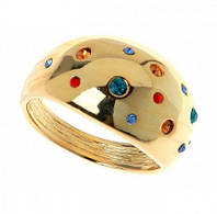 """Кольцо """"Монпасье"""" с кристаллами Swarovski, покрытое золотом (b251p070)"""