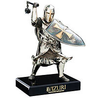 Бронзовая статуэтка «Тевтонский рыцарь» cо щитом Vizuri W03