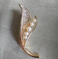 Брошь женская Peas gold