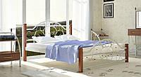 Кровать Франческа из металла на деревянных ножках