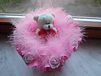 """Букет из мягкой игрушки """"Teddy pink"""""""