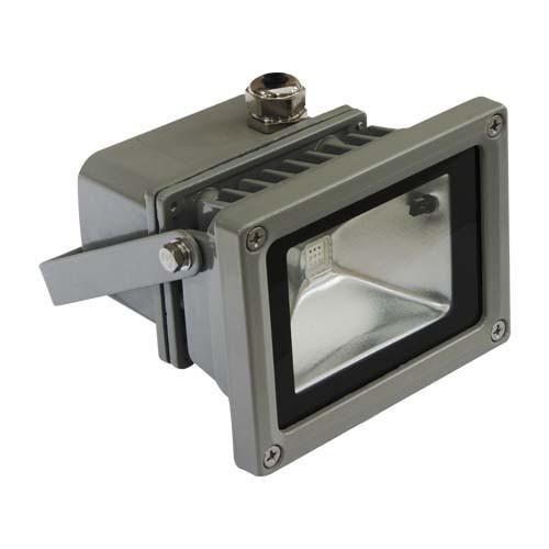 LED прожектор RGB FERON 10W (+ДУ) Серебро IP44