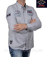 Рубашка мужская в полоску Paul Shark-2001 светлосерая