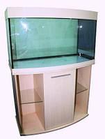 Аквариум Овал 100х45х50 с крышкой из полистирола и освещением