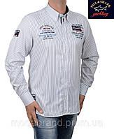 Белая мужская рубашка в тонкую черную полоску Paul Shark-2001