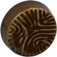 P105B.330000 Ручка мебельная РГ 156 шоколад накладная кнопка - металлическая Италия GIUSTI