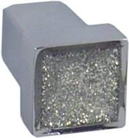 WPO550.000.RSG02 Ручка мебельная РГ 179 хром глянцевый+блеск накладная кнопка - металлическая Италия GIUSTI