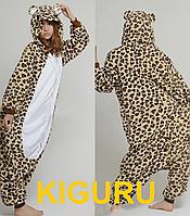 Костюм леопарда кигуруми косплей анимэ M (160-170cm), Фланель