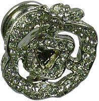 LPO010.030.KRPD Ручка мебельная РГ 142 палладий накладная кнопка - металлическая Италия GIUSTI