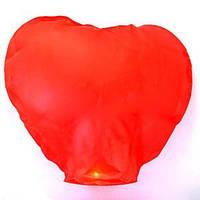 Небесный летающий фонарик Сердце 88 см