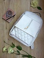 Стильный женский рюкзак белого цвета