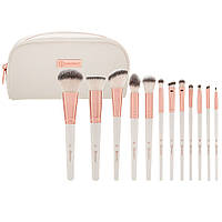 Набор кистей для макияжа  Rosé Romance - 12 Piece Brush Set With Cosmetic Bag BH Cosmetics