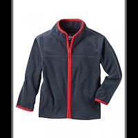 Флисовая кофта, свитер, реглан поддева OshKosh для мальчика синяя с красным, Размер 8, Размер 8