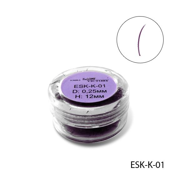 Фиолетовые ресницы в банке Lady Victory ESK-K-01