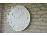 """Часы настенные """"Wood Wood Medium""""/ 35см/дерево/белый арт 3096WI"""