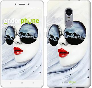 "Чехол на Xiaomi Redmi Note 4 Девушка акварелью ""2829c-352-2911"""