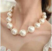 Ожерелье крупный жемчуг