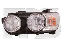 Фара передняя для Chevrolet Aveo '11- правая хромированный отражатель. (DEPO) под электрокорректор