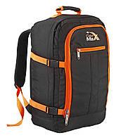 Рюкзак сумка для лоукостов Cabin Max Backpack  Flight Low Cost Approved 55 х 40 х 20 см.  Black/Orange