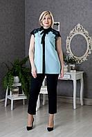 Женская красивая блуза с кружевными вставками