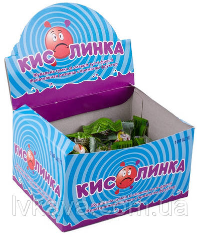 Жевательная резинка  Кислинка со вкусом тутти-фрутти , 3,5  гр х 100 шт, фото 2