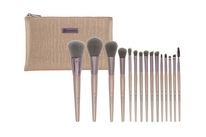 Набор кистей для макияжа Lavish Elegance - 15 Piece Brush Set With Cosmetic Bag BH Cosmetics