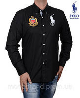 Рубашка мужская Ralph Lauren-1231 черная