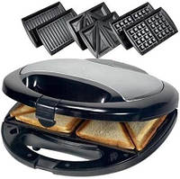Сендвичница ростер бутербродница тостер 3 в 1 Domotec MS 0770