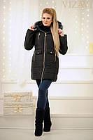 """Женское пальто """"Аляска"""" плащевка(зима)"""