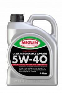 Синтетическое моторное масло MEGUIN MEGOL MOTORENOEL  ULTRA PERFORMANCE LONGLIFE 5w-40 4L