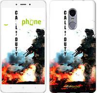 "Чехол на Xiaomi Redmi Note 4 Call of Duty. В пламени ""616c-352"""