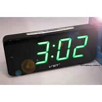 Светодиодные настольные электронные часы VST 763-4 (зеленое табло)!Акция