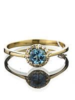 """Кольцо золотое с топазом  """"Swiss Blue"""""""