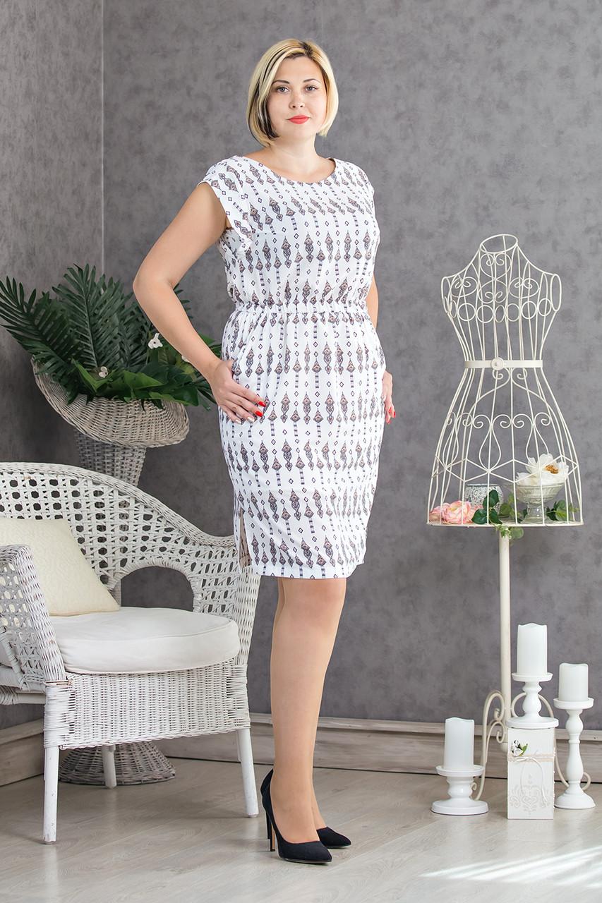 Летнее женское платье белого цвета