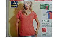 Футболка женская с V-образным вырезом Tchibo Германия (EU M 40/42, RU 46/48)