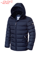 Мужской зимний пуховик синий Braggart Dress Code 4898F