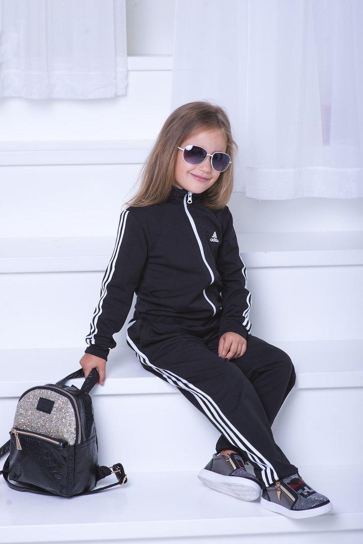 """Костюм двойка """"Adidas"""" двухнить трикотаж, девочка/мальчик."""
