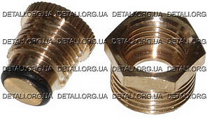 Сливная пробка конденсата для компрессора 3/8  латунная (нар16,5мм) (16 грамм)