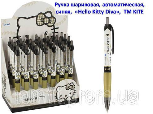 Ручка шариковая, автоматическая «Hello Kitty Diva» - цвет корпуса белый с золотом, фото 2