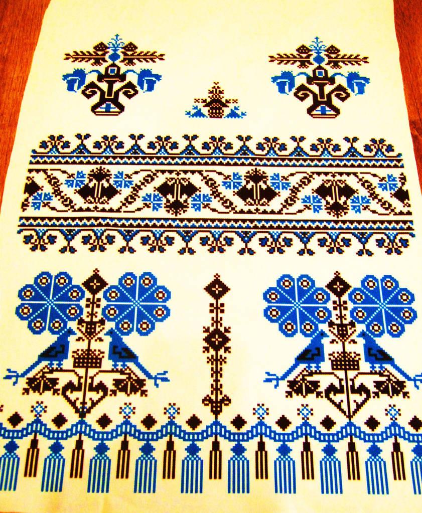 Рушник свадебный синий