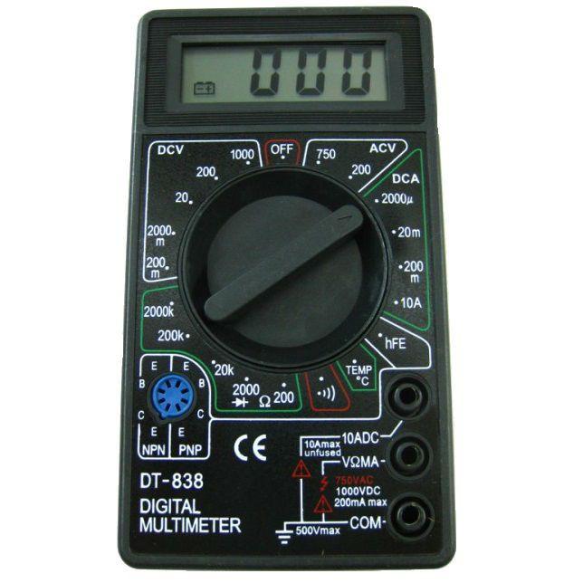 Мультиметр dt 838 инструкция по эксплуатации