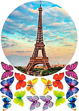 Вафельная картинка Эйфелева Башня