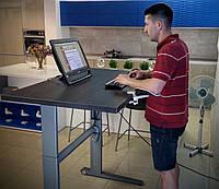 501-17-7S 096: Компьютерный стол Conset для работы сидя-стоя (дизайн, цена, лоток для проводов)
