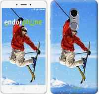 """Чехол на Xiaomi Redmi Note 4 Прыжок на лыжах """"348c-352"""""""