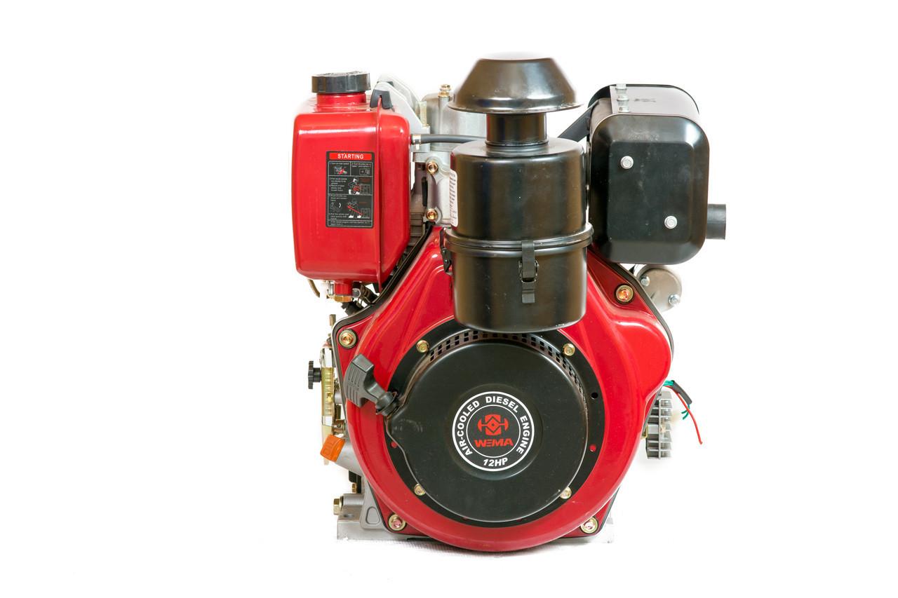 Двигатель дизельный Weima WM188FBE (вал под шлицы) 12 л.с. эл.старт, съемный цилиндр