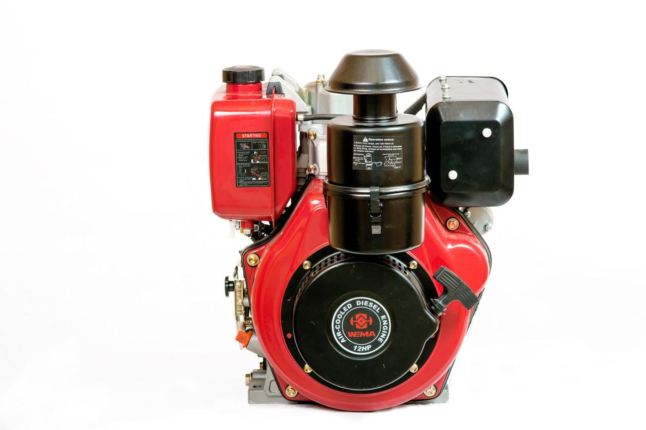 Двигатель дизельный Weima WM188FBS (R) (вал под шпонку, 12 л.с., 1800 об/мин, редуктор)