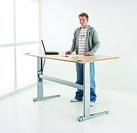 501-17-7S 156: Компьютерный стол Conset для работы сидя-стоя (дизайн, цена, лоток для проводов)