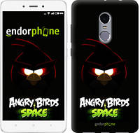 """Чехол на Xiaomi Redmi Note 4 Angry birds. Space on a black background """"538c-352"""""""