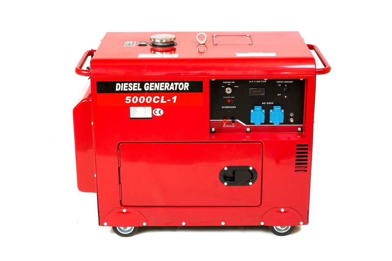 Генератор дизельный WEIMA WM5000CLE-3 SILENT (5 кВт, 3 фазы, электростартер, шумоизоляция)